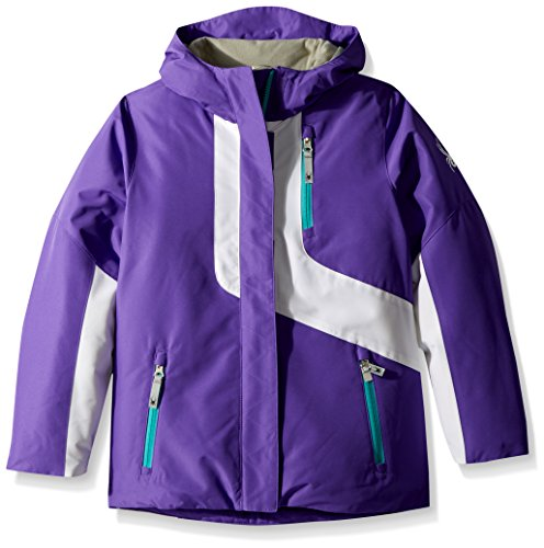 Spyder Girl's Reckon 3-In-1 Jacket, Iris/White, Small by Spyder