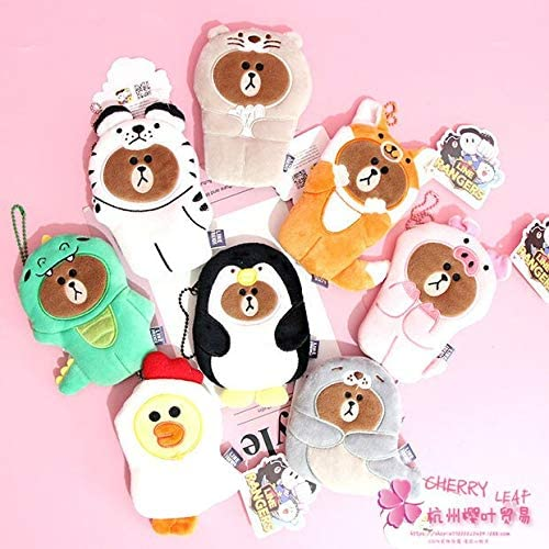Gimax Coin Purses Color: See Chart IVYYE Brown cos Pig Penguin Anime Plush Coin Purse Cartoon Soft Change Purses Coins Pouch Money Wallet Card Key Bags Kid Gifts