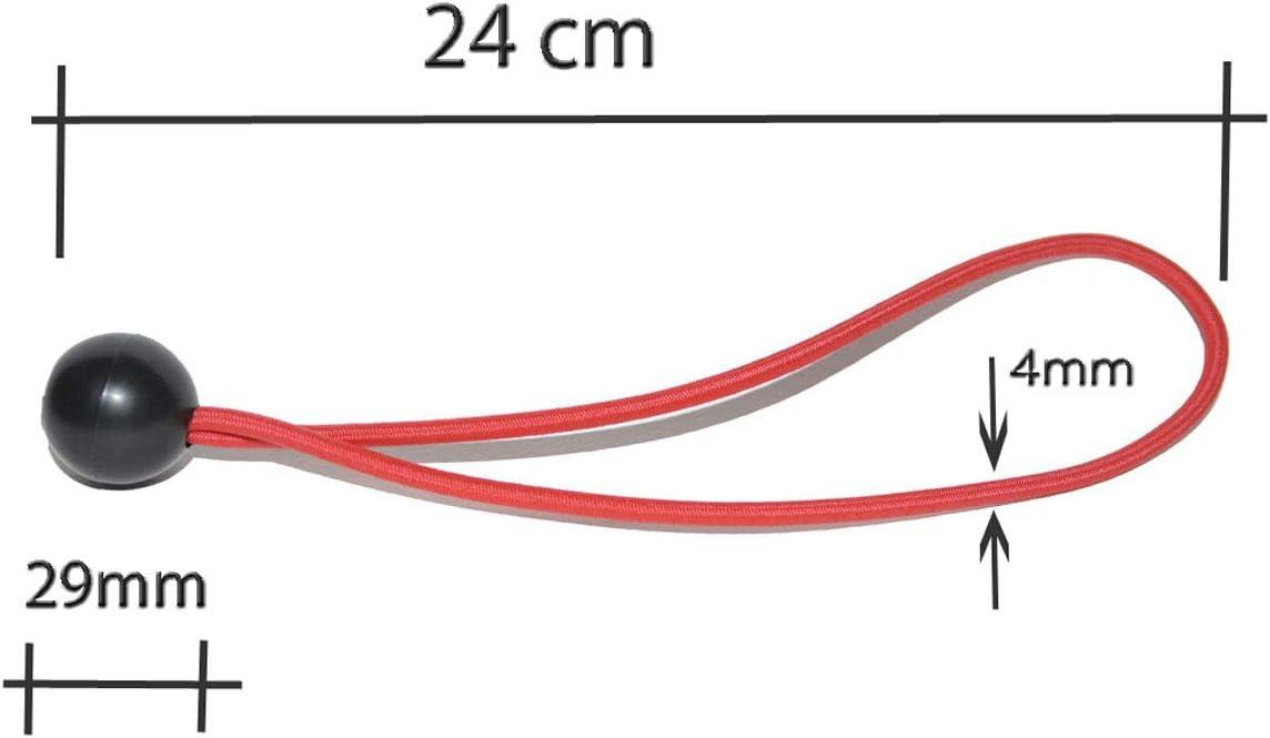 8 Spanngummi Expanderschlingen mit Kugel Zeltgummi Gummispanner Planenspanner Spanngummis planenhalter Expander spanngurt von all-around24