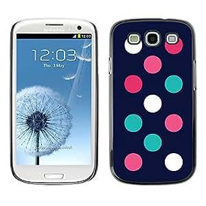 Paccase / SLIM PC / Aliminium Casa Carcasa Funda Case Cover para - Minimalist Teal Pink Navy - Samsung Galaxy S3 I9300