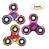 3 Pack EDC Fidget Spinner, Hand Tri-Spinner Fidget Stress Relief Toys for Adults and Kids, All-in-one Design High Speed Ceramic Bearing 2-3 Min Spins,Relieves your ADD ADHD Autism Anxiety and Boredom Reviews