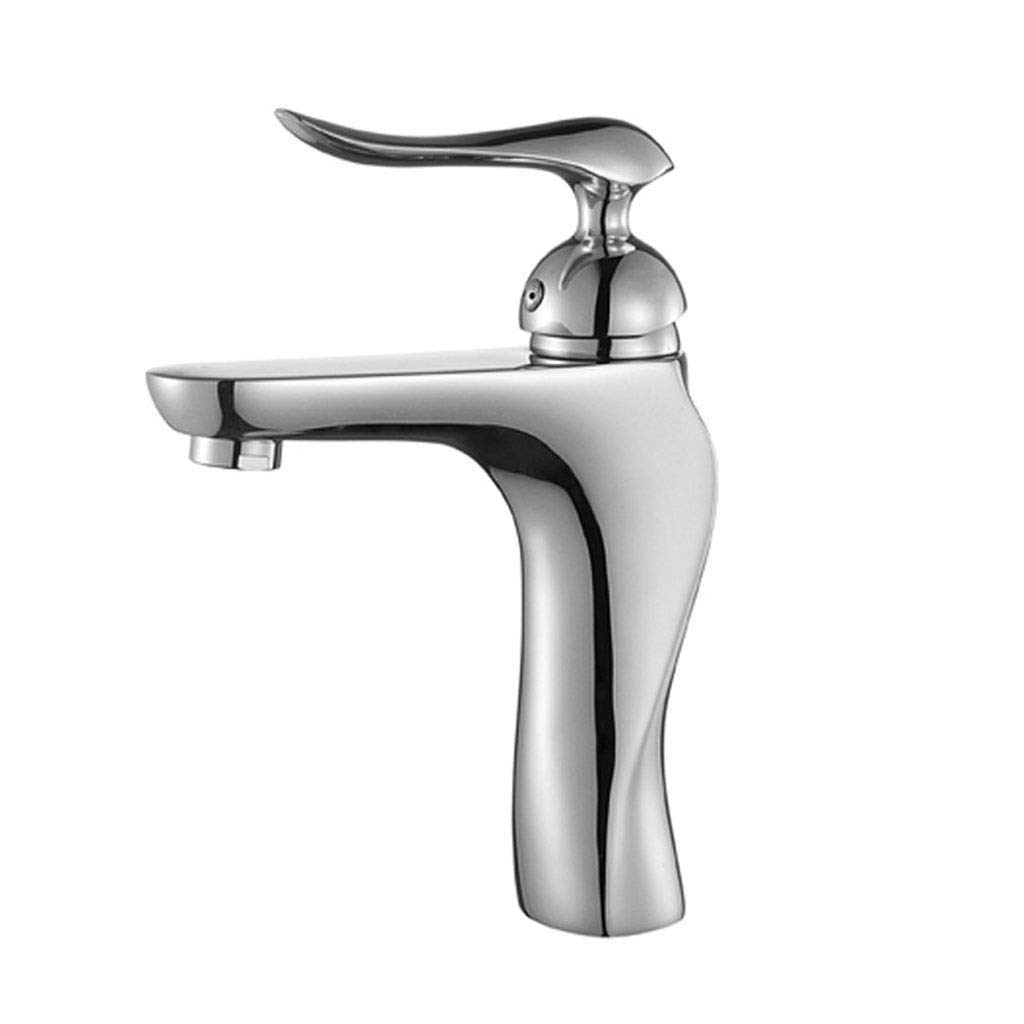 LXKY Faucet - all copper basin faucet single hole hot and cold, countertop washbasin faucet,A