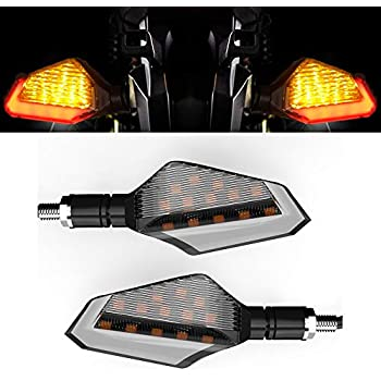 Cynemo Motorcycle Led Turn Signal Lights Blinkers Front Rear Indicators for Motorbike Yamaha Scooter Harley Cruiser Honda Kawasaki BMW Suzuki(1Pair,Pack of 2)