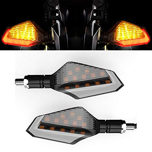 Cynemo Motorcycle Led Turn Signal Lights Blinkers Front Rear Indicators