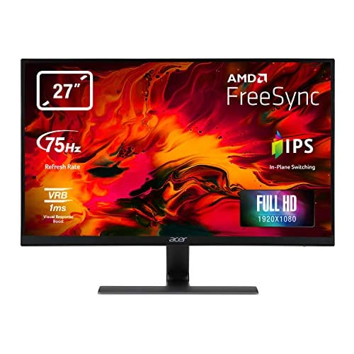 chollos oferta descuentos barato Acer Nitro RG0 27 Full HD LED Plana Negro Pantalla para PC Monitor 68 6 cm 27 1920 x 1080 Pixeles Full HD LED 1 ms Negro