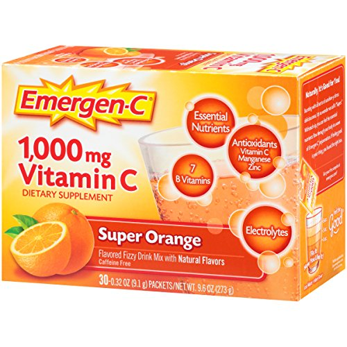 076314306466 - Emergen-C Dietary Supplement Drink Mix with 1000 mg Vitamin C, 0.32 Ounce Packets, Caffeine Free (Super Orange Flavor, 30 Count) carousel main 2