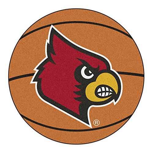 - NCAA University of Louisville Cardinals Basketball Shaped Mat Area Rug