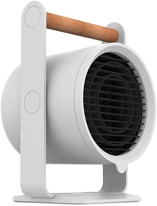 HM&DX PTC Cerámica Ventilador Calefactor de Espacio, Portátil Silence Calefactor eléctrico 3 Ajustes de Calor Protección Segura Mini Calentador para Inicio Dormitorio Oficina-Blanco: Amazon.es: Hogar