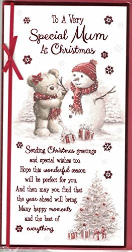 mum christmas card to a very special mum at christmas cute bear snowman - And This Christmas Will Be A Very Special Christmas