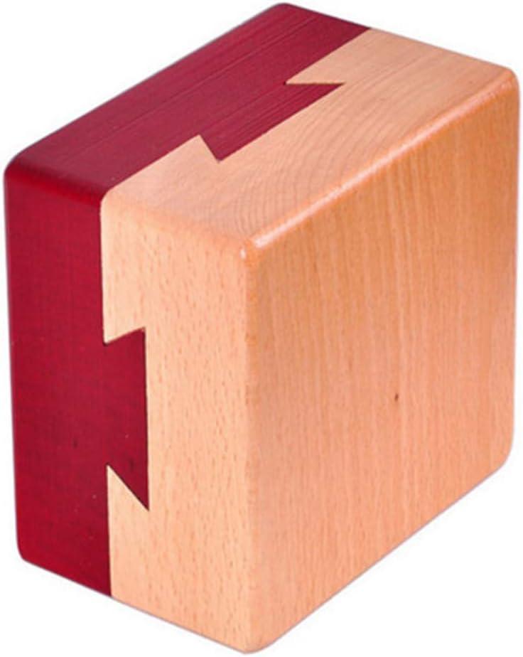 Zernnis Magic Mysterious Box Geheime h/ölzerne Brain Teaser Lock Box Fach Geschenk Puzzle Box