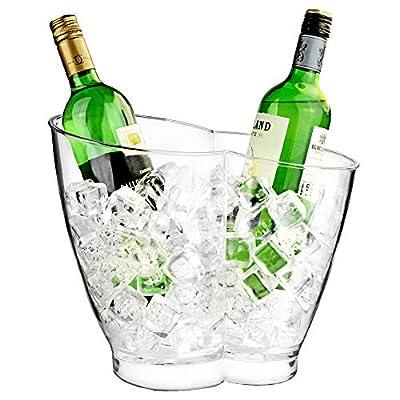 bar@drinkstuff Double Seau à vin,champagne en acrylique ,forme curvé, peut contenir 2 bouteille de vin