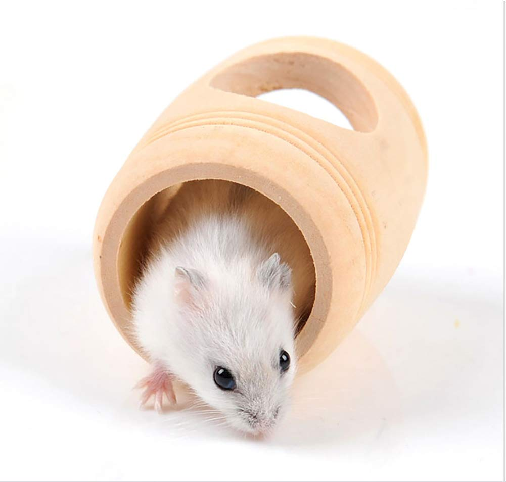 Hamster Madera Vino Cask casa Jaula Rata Guinea-Cerdos Ardilla ...