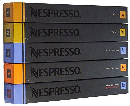 NESPRESSO 네스프레소 캡슐 커피 마일드 타입5종×10캡슐×=50캡슐