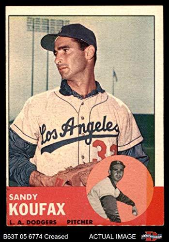 - 1963 Topps # 210 Sandy Koufax Los Angeles Dodgers (Baseball Card) Dean's Cards 3 - VG Dodgers
