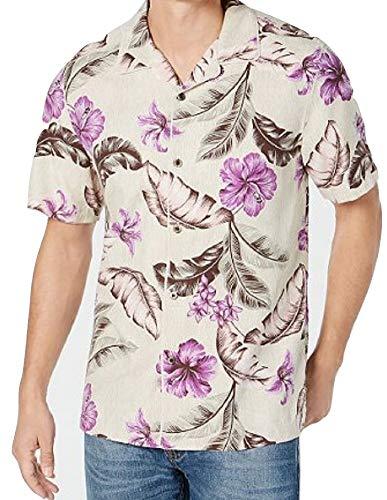 Tommy Bahama Island Zone Maeva Beach Silk Blend Camp Shirt (Color: Twill, Size XXL)