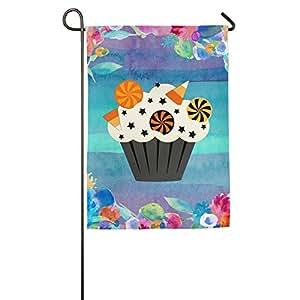 Bandera de Halloween Cupcake fiesta vacaciones bandera