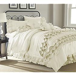 Anastacia Pearl 8-piece Comforter Set Queen Pearl White