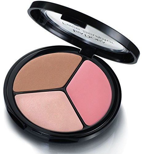 IsaDora Face Sculptor - Bronzer, Blusher, Highlighter in one pack - 18 g / 0.63 Oz. - Fragrance free, Clinically tested (02 Cool Pink)