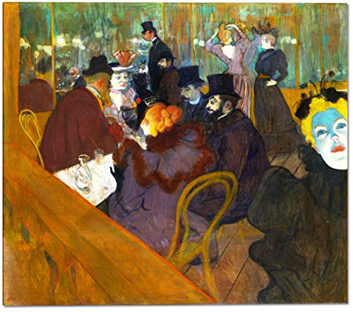 at The Moulin Rouge by Henri De Toulouse-Lautrec - 19