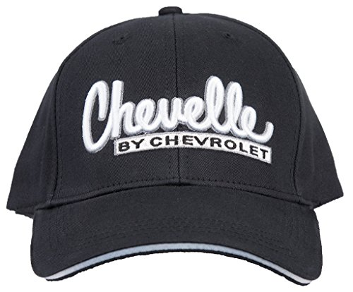 Chevy Hat Chevelle by Chevrolet Embroidered Logo Adjustable Cap, Black