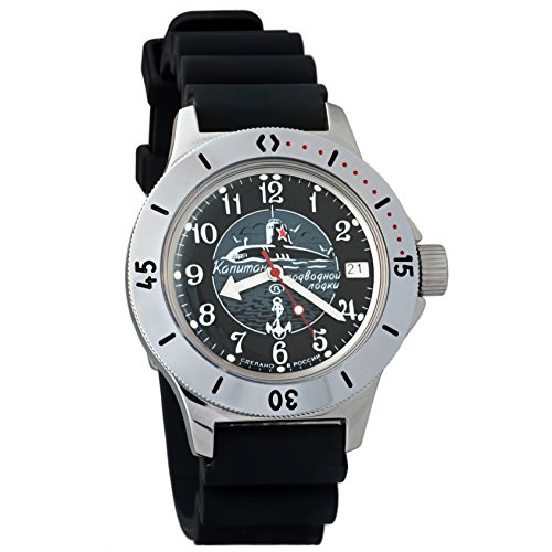 Dive Case Watch Resin (Vostok Amphibian Automatic Mens Wristwatch Self-Winding Military Diver Amphibia Case Wrist Watch #120831 (Resin))
