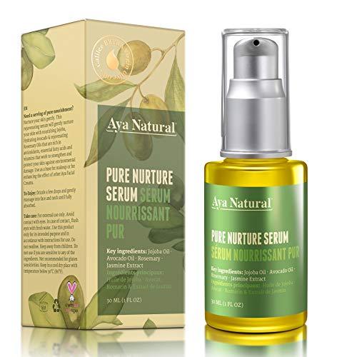 51D2pQiHkeL - All Natural Face Serum Moisturizer - Vegan Anti Aging Anti Wrinkle Hydrating Daily Facelift Serum for Facial Dry Skin by Aya Natural
