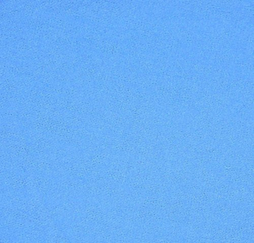 Periwinkle Blue 100% Cotton Flannel Baby Fabric By the Yard Made in USA (Flannel Fabric For Quilting compare prices)