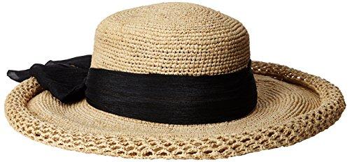 callanan-womens-fine-roll-brim-hat-with-chiffon-black-one-size