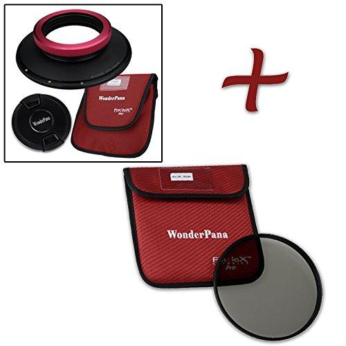 WonderPana XL Essential CPL Kit - Core Filter Holder, Lens Cap & 186mm CPL Filter for Sigma 14mm 1.8 DG HSM Art Lens (Full Frame 35mm)