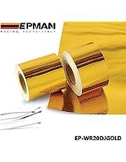 """EPMAN 2 """"x5 Meter Roll ZELF LIJM REFLECTEREN EEN GOUD WARMTE WRAP BARRIER Hot Selling Nieuwe EP-WR20DJGOLD"""