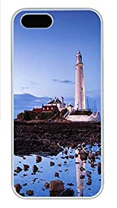 iPhone 5 5S Case St. Mary's Lighthouse PC Custom iPhone 5 5S Case Cover White