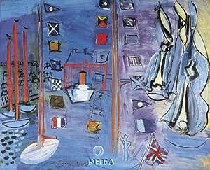 Raoul Dufy – El muelle de Deauville Artistica di Stampa (61,93 x 55,58 cm)