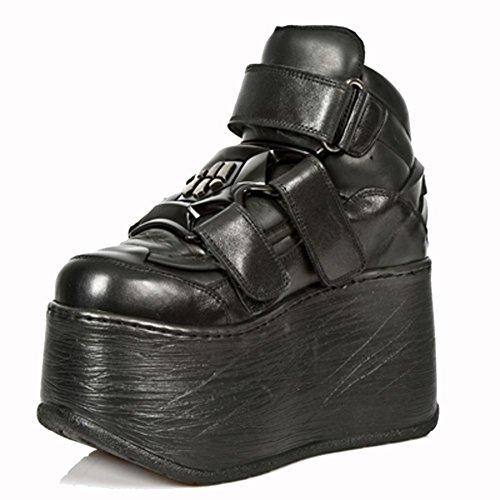 New Rock Black Leather M.Et013 S1 Sales Hell Marte Women