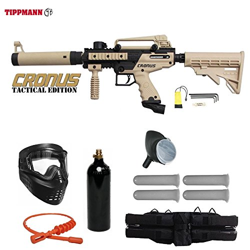 (Tippmann Cronus Paintball Marker Gun -Tactical Edition- Tan Starter Package)