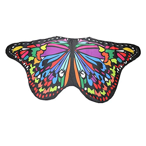 Butterfly Wing Cape Shawl Women Bohemian Butterfly Print Shawl Pashmina Costume For Girls Fancy Dress Up Accessory -