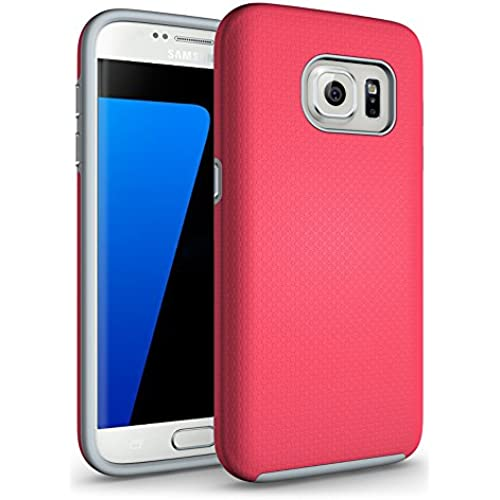 Galaxy S7 Edge Case, VEGO [New Arrival] Slim Hybrid Dual Layer Armor Shock Proof Defender Protective Case Cover for Samsung Galaxy S7 Edge - Hot Pink Sales
