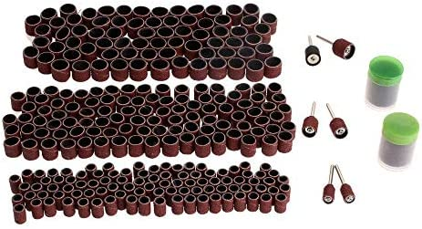 SLRMKK 378Pcs Accessories Rotary Tools Set,for Sanding Grinding Polishing Grit 80 Sanding Bands 24mm Black/Red Cutting Discs
