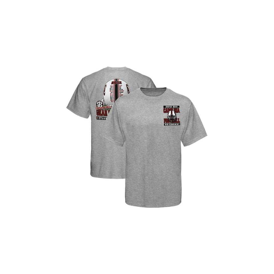 South Carolina Gamecocks 2012 Football Schedule Gear Up T Shirt   Ash