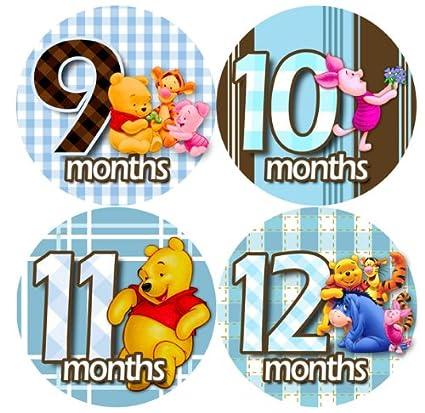 Amazon.com: Body para bebé pegatinas mensuales, Winnie Pooh ...
