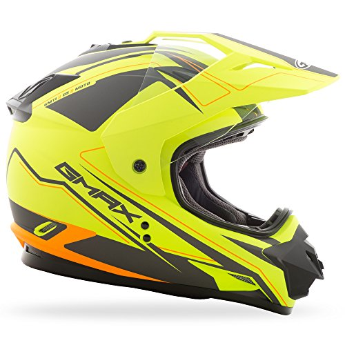 Medium GMax Helmets 191361044014 GMax GM11D Expedition Matte Hi-Viz Yellow//Black Dual Sport Helmet