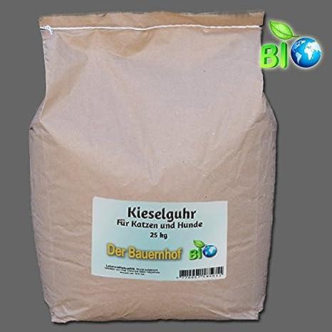 diatomita en calidad alimentaria para gatos y perros - Natural medio antipulgas - Incluye Salero - 25 Kg: Amazon.es: Productos para mascotas