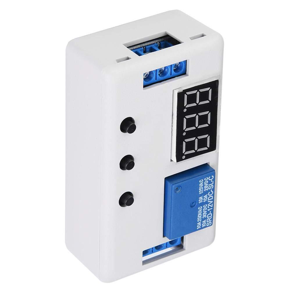 12V AC 220V10A//DC30V10A 100,000veces Pantalla LED M/ódulo de interruptor de control de automatizaci/ón de rel/é de temporizador ajustable para aplicaciones dom/ésticas M/ódulo de rel/é de temporizador