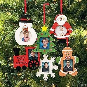 Amazon.com - Wooden Photo Frame Christmas Ornaments - box ...