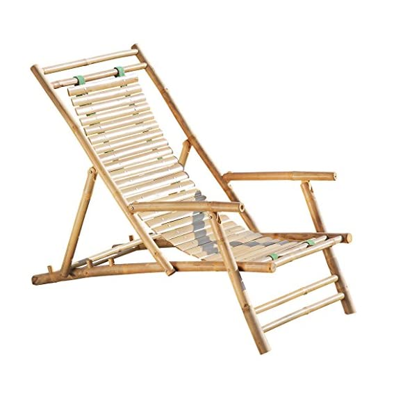 Whole House Worlds Key West Classic Sling Lounge Chair, Natural Bamboo with Slats and Canvas, Tortoise Shell Finish, 4 Adjustable Positions, Fold-Away, 46 1/2 Inches, by WHW - A TOUCH OF THE TROPICS Enjoy high style looks with low-energy vibes in the cozy Key West Classic Sling Back Beach Chair. Loaded with everything you could want in a relaxing beach chair, it brings together incredible comfort, a solid bamboo frame that folds easily for carrying, and a gorgeous slated back. HANDCRAFTED of high quality bamboo by our expert artisans, natural bamboo is cut, sanded and finished with a clear varnish. On the back, 2 thick and sturdy canvas strips hold each of the 28 slats in place and allow them to gently support your back as you sit down. GREAT SIZE, this chair measures as follows: 46 1/2 D x 23 5/8 W x 29 1/8 H inches. - patio-furniture, patio-chairs, patio - 51D2soqXf9L. SS570  -