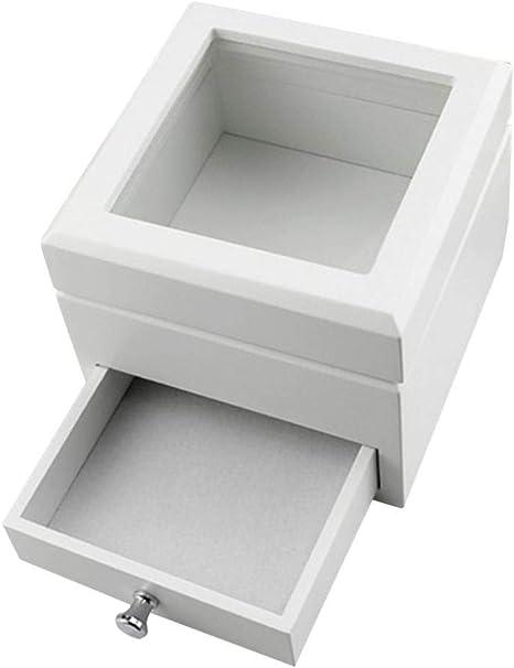 Bonarty Caja de Madera para Decorar con Tapa, para Almacenaje Documentos Objetos de Valor Juguetes Herramientas 15x15cmx15cm - Blanco: Amazon.es: Hogar