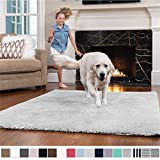 GORILLA GRIP Original Faux-Chinchilla Nursery Area Rug, (3' x 5') Super Soft & Cozy High Pile Machine Washable Carpet, Modern Rugs for Floor, Luxury Shag Carpets for Home Bed/Living Room (Light Gray)