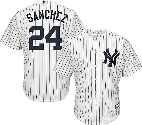 Gary Sanchez New York Yankees Youth Cool Base White Replica Jersey Large 14-16