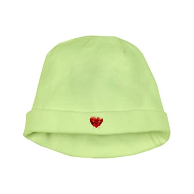 Truly Teague Baby Hat Heart With Red Bow - Kiwi