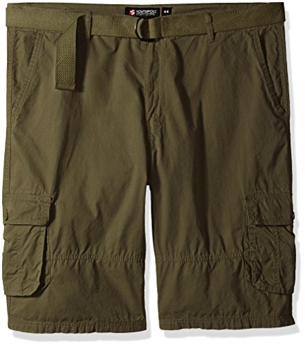 Southpole Belted Canvas Cargo Shorts