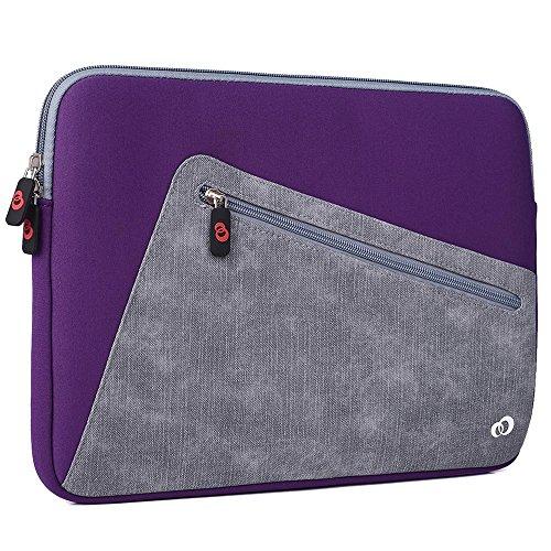 Acai Purple/StoneGrey Universal Case Sleeve W/Accessory Pocket fits Apple MacBook 12, MacBook Air 13, MacBook Pro 13 (2016) Retina Display Laptop   Cover -  EnvyDeal, ND13VXU1 EN TYS2